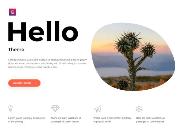 Hello elementor theme
