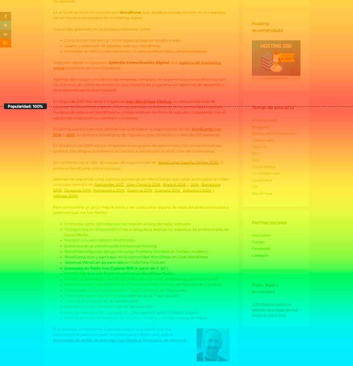 Scroll heat map