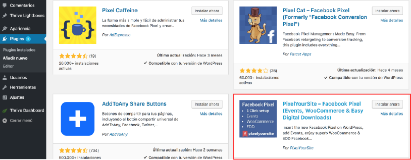 plugins-wordpress-pixel-facebook