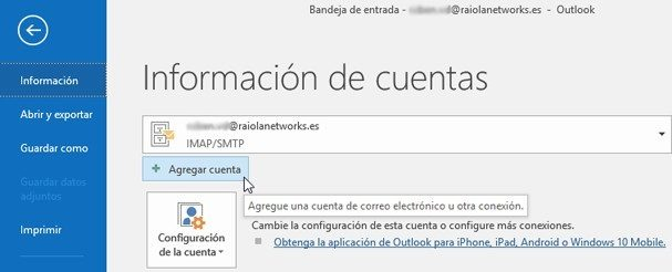 configurar correo outlook