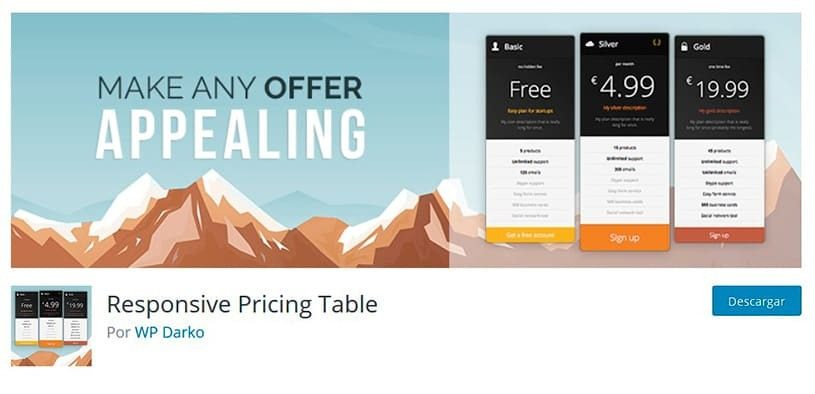 pricing tables plugin wordpress