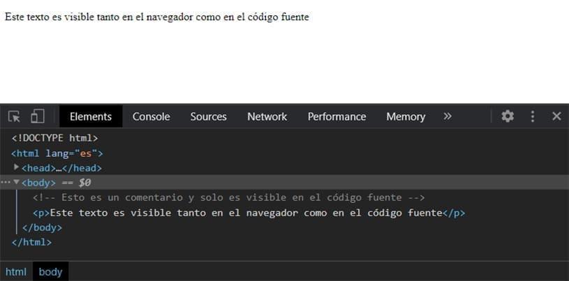 Comentarios en HTML