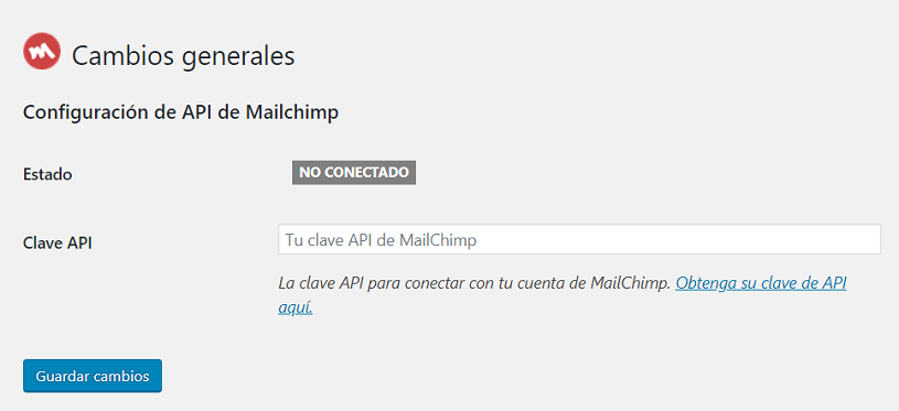 API Mailchimp for WordPress