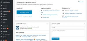 Blogger o WordPress - Panel WordPress