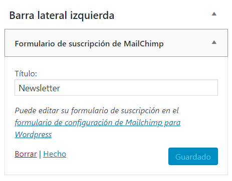 Widget Mailchimp for WordPress