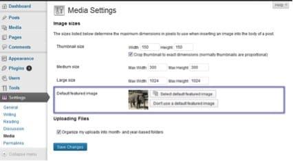 plugin imagen predefinida wordpress