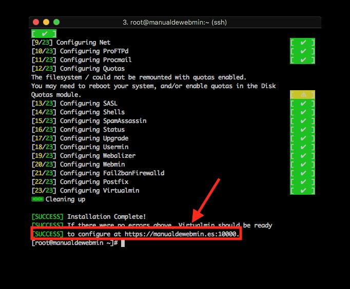 Como instalar Virtualmin - Paso 6