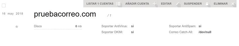 Gestionar dominios de correo en VestaCP 2