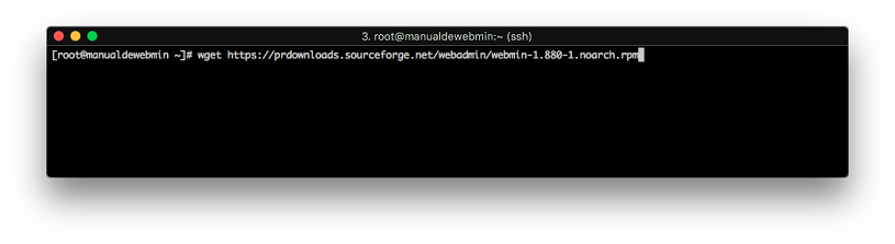 Instalar Webmin en Centos 7 - Paso 3 - descargar webmin
