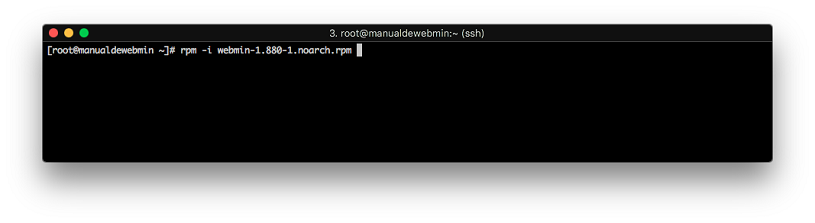 Instalar Webmin en Centos 7 - Paso 4 - Instalar el RPM de webmin