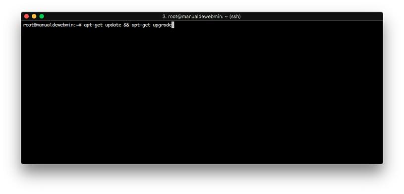 Instalar Webmin en Debian 9 stretch - Paso 1 - Actualizar el sistema