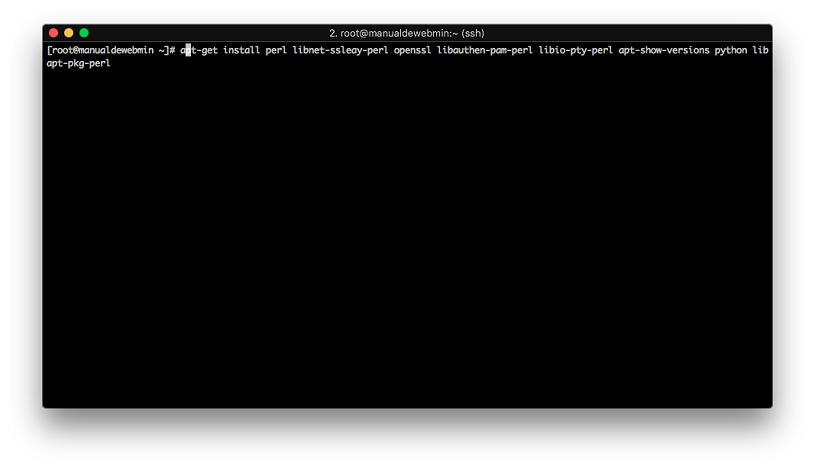 Instalar Webmin en Debian 9 stretch - Paso 2 - Instalar dependencias (1)