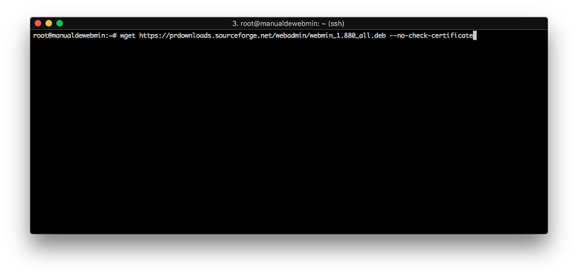 Instalar Webmin en Debian 9 stretch - Paso 3 - Descargar webmin
