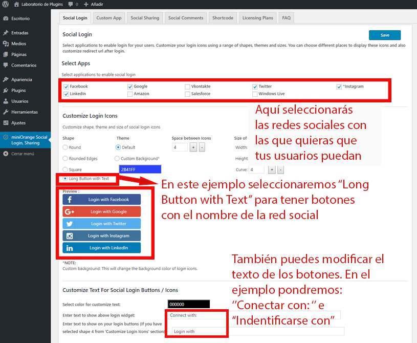 Configuracion social login