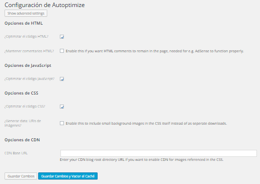 autoptimize wordpress