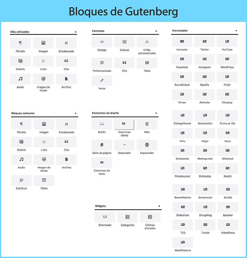 bloques gutenberg