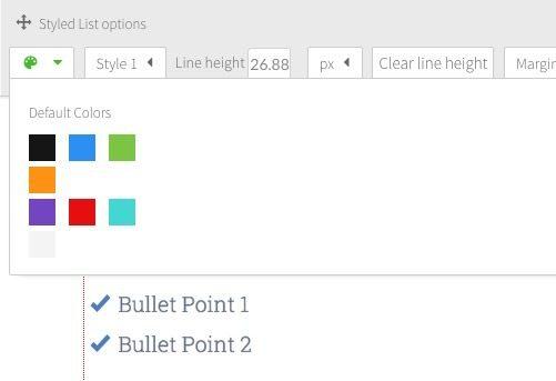 Colores de los iconos en Thrive Content Builder