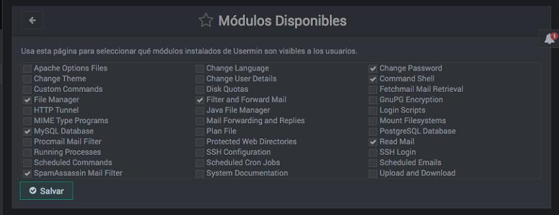 como actrivar modulos de usermin - paso 2
