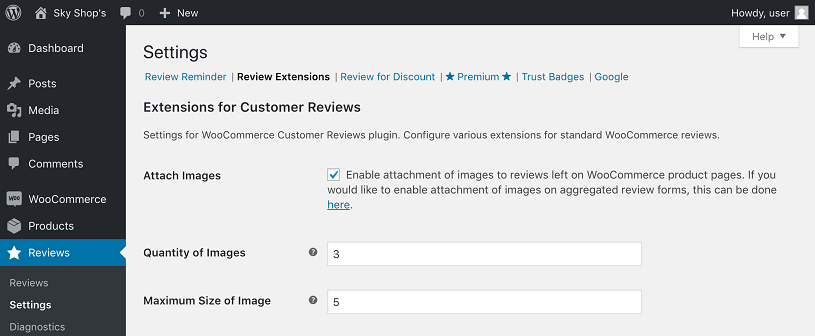 configurar customer reviews for woocommerce plugin testimonios wordpress 2