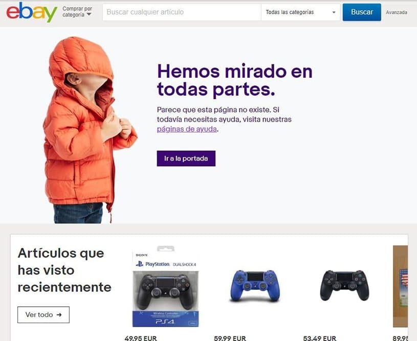 ejemplo error 404 ebay