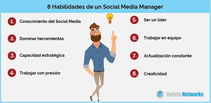 habilidades social media manager