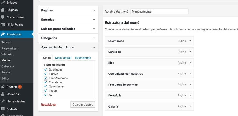 iconos-wordpress