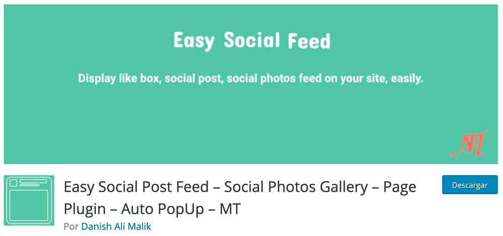 Easy Social Post Feed