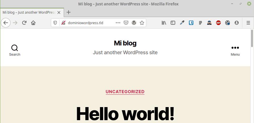 instalación correcta wordpress