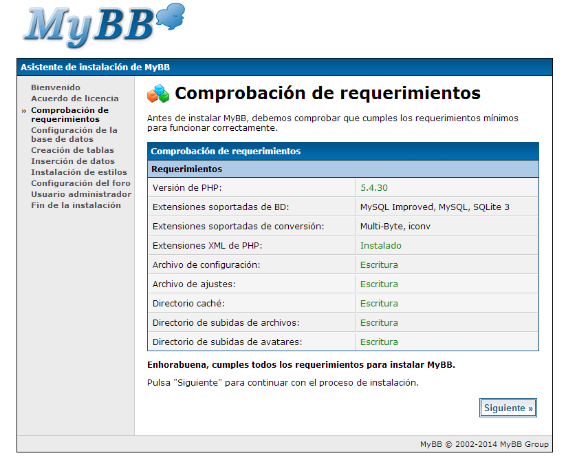 como instalar mybb
