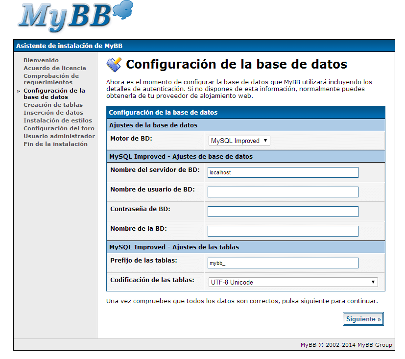 instalar mybb