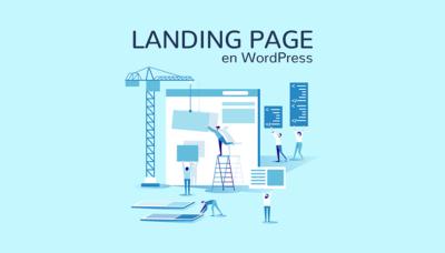 Construcción de landing page wordpress