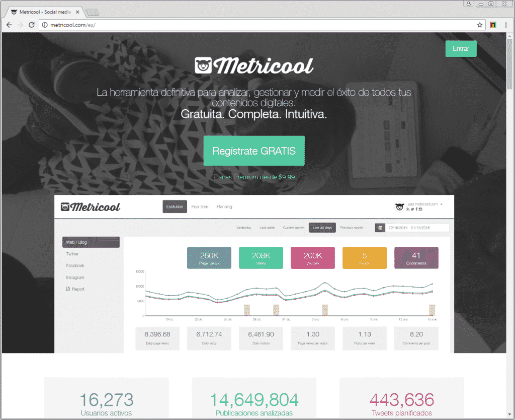 metricool wordpress