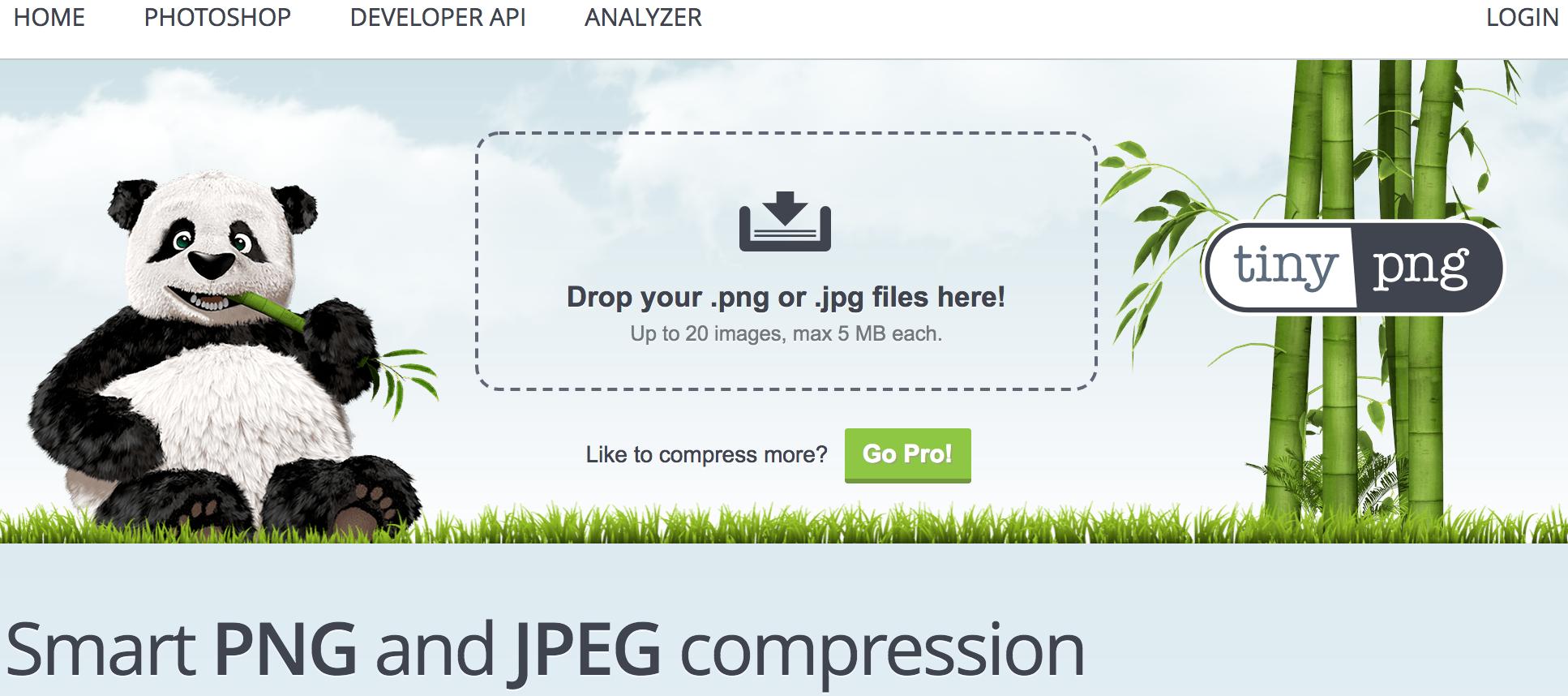 Captura de Tiny PNG: programa para reducir tamaño fotos online