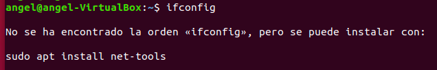 direccion IP error ifconfig linux
