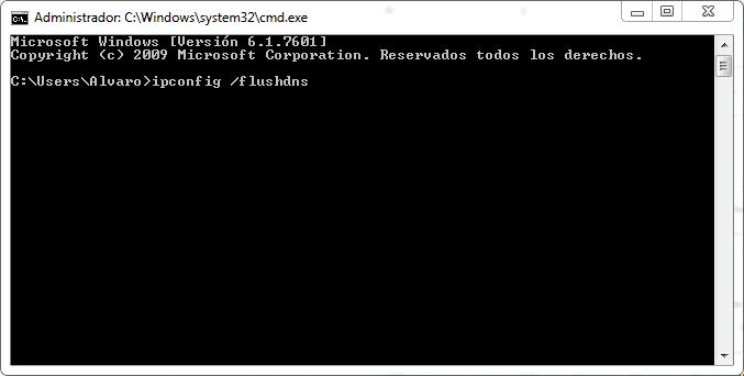 vaciar cache DNS